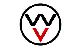 Logo Initial WV Stock Photography