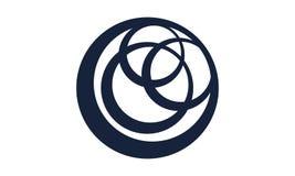 Logo Inner Circle. Logo Design Template Vectorn royalty free illustration