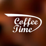 Logo with the inscription of coffee time. Great logo with the inscription of coffee time vector illustration