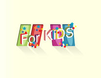 Logo with the inscription for kids. Object art Stock Photo