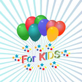 Logo with the inscription for kids object art. Icon Stock Photo