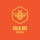 Logo with insect. Badge Bee for corporate identity Stock Images