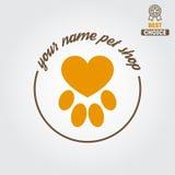 Logo, insigne ou label pour le magasin de bêtes ou le vétérinaire illustration stock