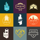 Logo inspiration for construction companies, real estate agencies or architectural companies. Stock Image