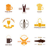 Logo inspiration for shops, companies, advertising or other business. Stock Image