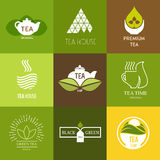 Logo inspiration for shops, companies, advertising with tea. Logo inspiration for shops, companies, advertising or other business with tea. Vector Illustration Royalty Free Stock Images
