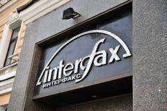Logo Interfax, rosyjska wiadomości agencja Zdjęcie Stock
