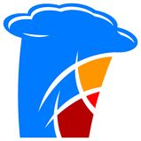 Logo international de cuisine Photographie stock libre de droits