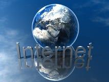 Logo Internet. World Global Internet Logo Symbol Stock Image