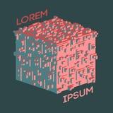 Logo isométrique abstrait de cube Illustration de vecteur Icône d'isolement Élément de conception Image libre de droits
