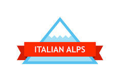 Logo of Italian Alps Stock Image