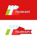 Logo of Italian Alps Royalty Free Stock Image