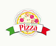 Logo Italian pizza for cafe and restaurant Royalty Free Stock Photo