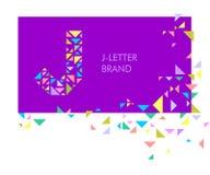 Logo J de lettre de triangle illustration libre de droits