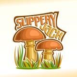 Logo Jack Mushrooms glissant de vecteur Images stock