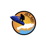 Logo jet ski, scooter. On a white background Royalty Free Stock Images