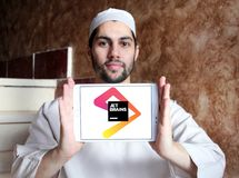 JetBrains software development company logo. Logo of JetBrains company on samsung tablet holded by arab muslim man. JetBrains is a software development company Royalty Free Stock Images