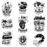 Logo journey. Logo travel handmade. Royalty Free Stock Photography
