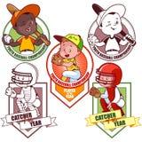 Logo for the junior baseball tournament. Vector illustration on white background Stock Image