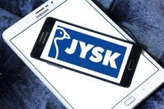 Logo Jysk för återförsäljnings- kedja Fotografering för Bildbyråer