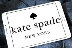 Kate Spade fashion brand logo. Logo of Kate Spade fashion brand on samsung tablet Royalty Free Stock Photography
