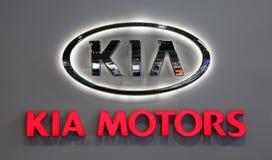 Logo KIA MOTORS Company Stockfotos