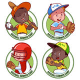 Logo for the kids baseball summer cump. Royalty Free Stock Photos