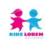 Logo kids Stock Image
