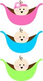 Logo kids. Peas in a pod baby Royalty Free Stock Images