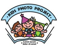 Logo kids photo project royalty free stock image
