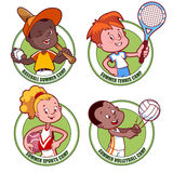 Logo for the kids sports camp. Royalty Free Stock Image