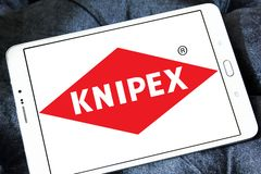 Knipex company logo. Logo of Knipex company on samsung tablet. Knipex is a German manufacturer of pliers for professional use Stock Photo