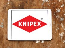 Knipex company logo. Logo of Knipex company on samsung tablet on wooden background. Knipex is a German manufacturer of pliers for professional use Royalty Free Stock Photography