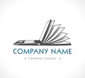 Logo - knowledge base, e-learning Royalty Free Stock Photography