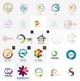 Logo kolekcja, geometryczny biznesowy ikona set ilustracji