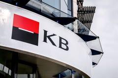 Logo Komecni Bank gałąź Societe Generale, Commercial Bank w Havirov/ zdjęcie stock
