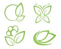 Logo lässt Natur Stockfotos