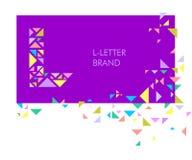 Logo L de lettre de triangle illustration de vecteur