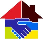 Logo à la maison d'affaire Image libre de droits