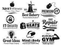 Logo Label Insignia And Icon-Reeks stock illustratie