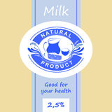 Logo and labels for dairy products. Editable Stock Photo