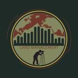 Logo land management Royalty Free Stock Image