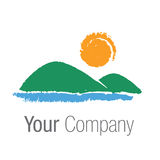 Logo landscape. Logo with landscape for your company Stock Photos