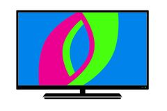 Logo LCD TV in vector. On white background royalty free illustration