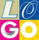 Logo le mot Photo libre de droits