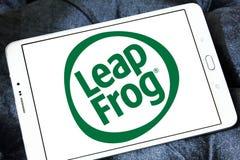 LeapFrog Enterprises logo. Logo of LeapFrog Enterprises on samsung tablet. LeapFrog is an educational entertainment and electronics company stock image