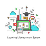 Logo of Learning Management System LMS E-Learning software application. Vector Icon Style Illustration Logo of Learning Management System LMS E-Learning software Royalty Free Stock Images