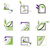 Logo with leaves Stock Image