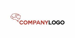 Logo électronique de cerveau Images stock