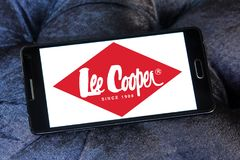 Lee Cooper clothing company logo. Logo of Lee Cooper brand on samsung mobile. Lee Cooper Brand is an English clothing company, operating worldwide, that licenses stock images